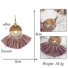 Load image into Gallery viewer, Colourful tassel earrings