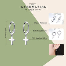 Load image into Gallery viewer, Cross earrings