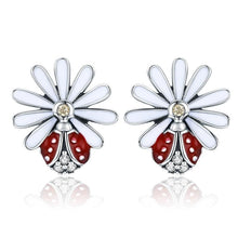 Load image into Gallery viewer, Daisy and ladybug earrings