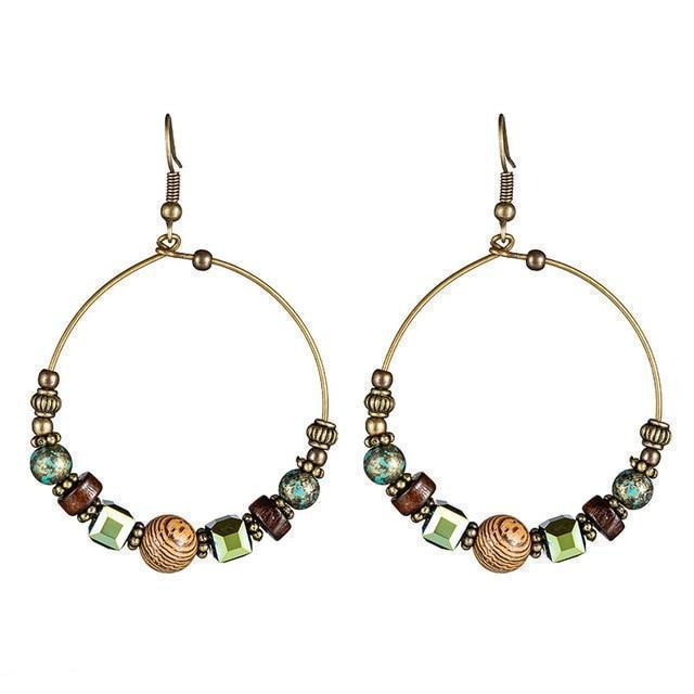 Ethnic big circle earrings