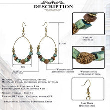 Load image into Gallery viewer, Ethnic big circle earrings