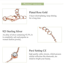 Load image into Gallery viewer, Heart rose gold bracelet
