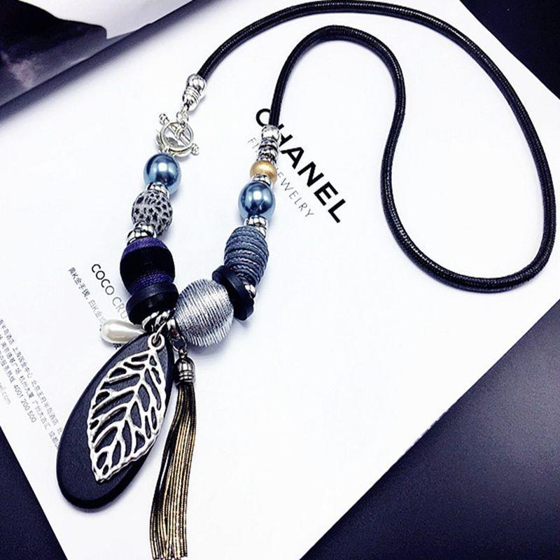 Leaf necklace trendy style