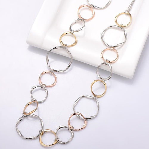Multi circle necklace Trendystrike
