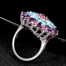 Load image into Gallery viewer, Multicolor gemstone ring