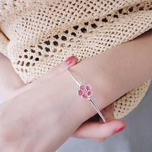 Load image into Gallery viewer, Pink flower bangle
