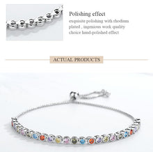 Load image into Gallery viewer, Rainbow Tennis Bracelet Trendystrike