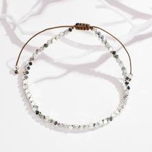 Load image into Gallery viewer, Silver beaded bracelet
