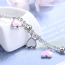 Load image into Gallery viewer, Silver hearts bracelet