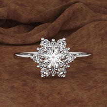 Load image into Gallery viewer, Snowflake ring 10(T1/2) / Silver Trendystrike