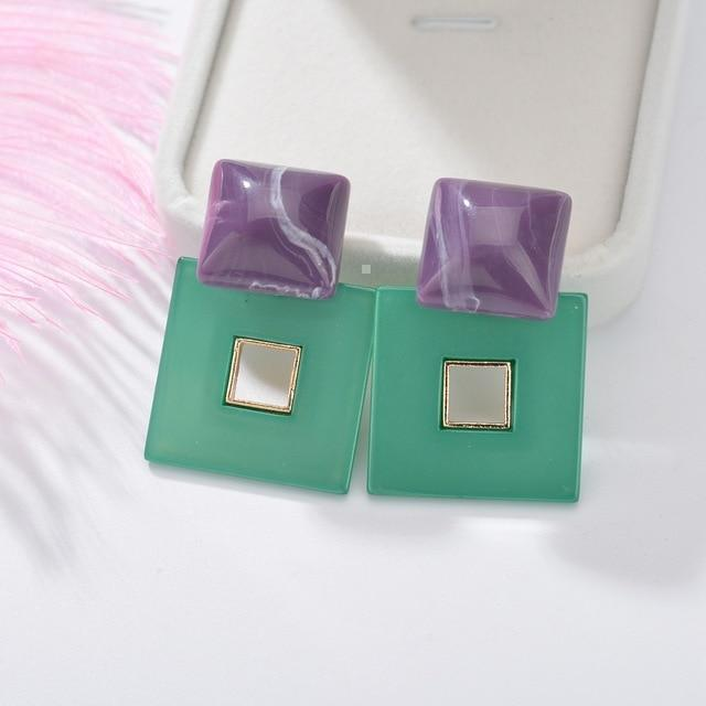 Trendy square style earrings