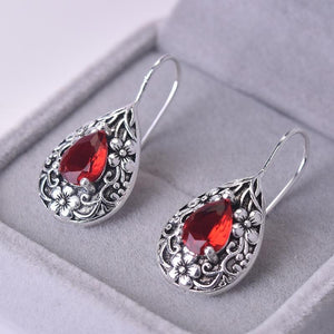 Vintage ruby earrings
