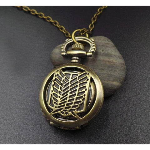 Attack on Titan Shingeki no Kyojin Bronze Pocket Watches