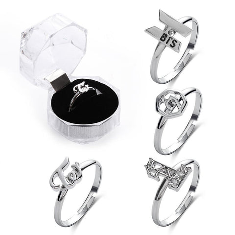 BTS Wanna One GOT7 TWICE Logo Ring