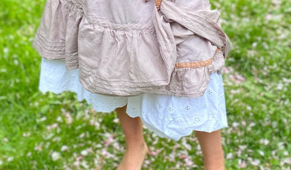 close up of bottom of petticoat and drawers