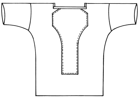 Line drawing of Middy Blouse, View A