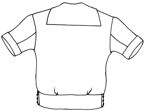 line drawing of View B, back from 211 Two Middies sewing pattern