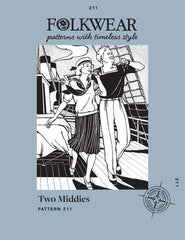 Pattern cover for Folkwear 211 Two Middies sewing pattern