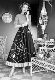 Photo of woman wearing a halloween embellished skirt!