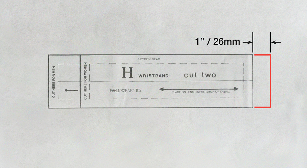 Measurement adjustment added to Wristband H