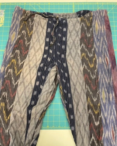 pieced pair of African pants from 119 Sarouelles pattern