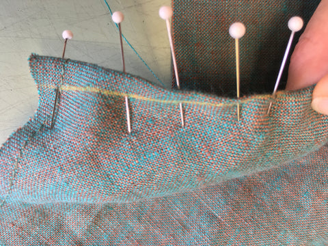 Dart aligned, pinned, and ready to stitch