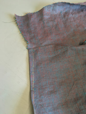 The Front right wrap extension dart sewn