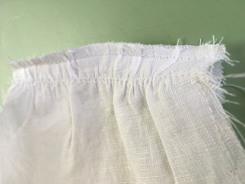 Up close Photo of Folkwear 210 Armistice Blouse with first seam for French Seams