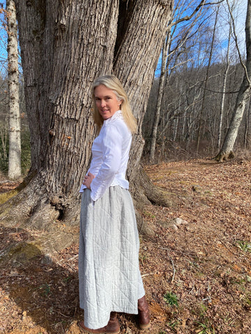 Photo of Molly back of Folkwear 206 Quilted Prairie Skirt