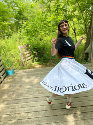 Photo of Folkwear 256 At The Hop RBG Skirt side view