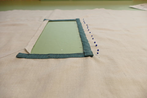 Apply Longer side to trim to Middy Blouse View A usingpirs to secure.