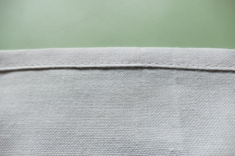 Topstitching of hem of Middy blouse View A.