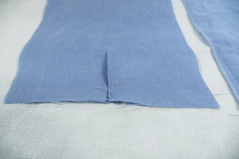 Photo of pleats made on sleeve edge.