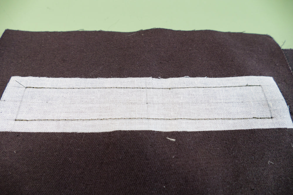 The paralelle lines sewn begining and ending with a back stitch