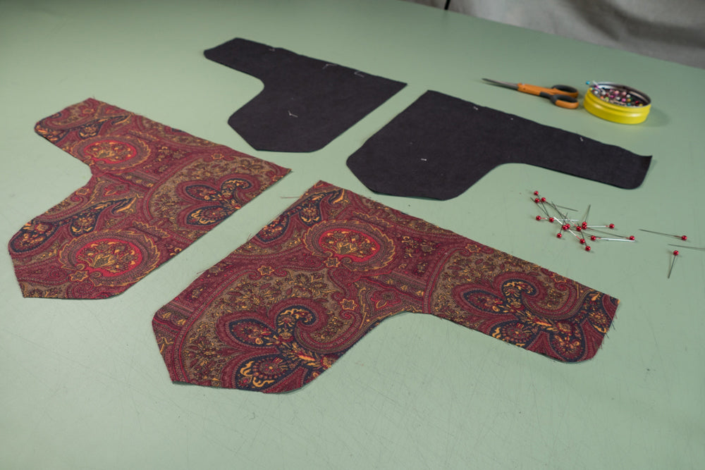 The Front Dart Gusset and Lining Pieces