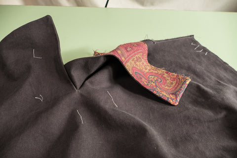 Turning the Front Dart Gusset to the inside of the pant.