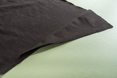 The godet folded so right sides together are visible.