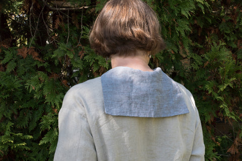 Back view of the Middy collar.