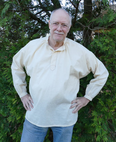 Photo of front view of Folkwear 102 French Cheesemaker's Smock