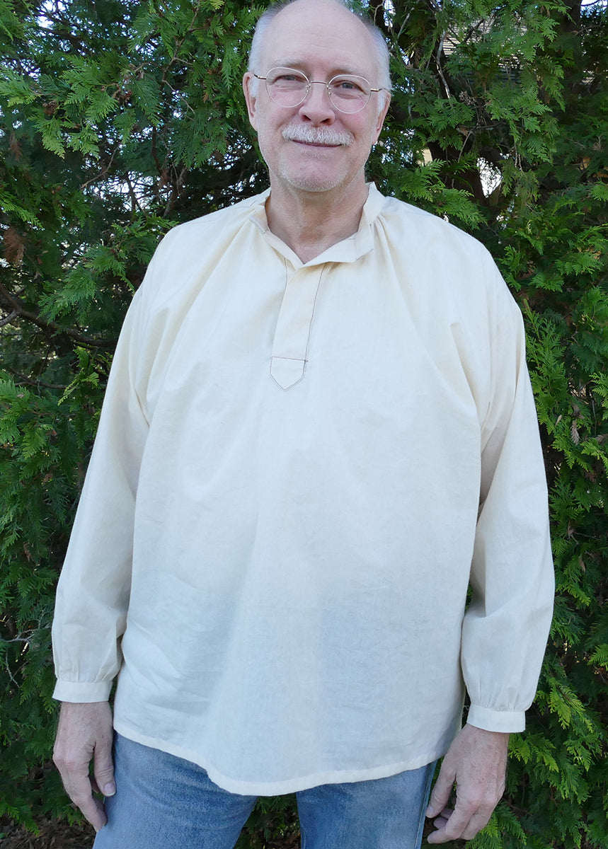 Photo of front view of 102 French cheesemaker's Smock