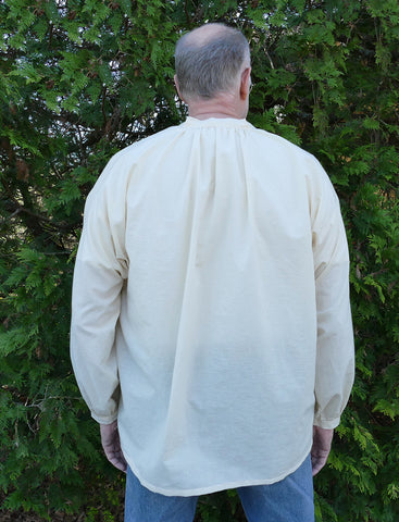 Photo of back view of Folkwear 102 French Cheesemaker's Smock