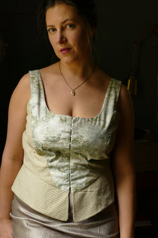 Front view of Folkwear 267 M' Lady Corset