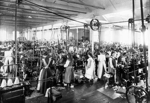 Women working in textile mill