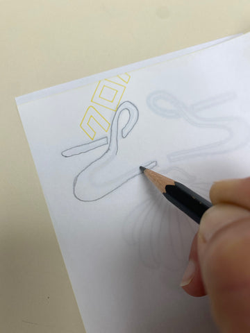 Tracing a pattern on paper