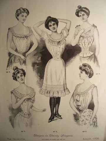 Advertisement for edwardian ladies camisole and petticoats