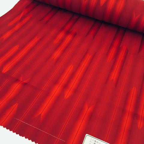 A Red authentic Japanese kimono silk bolt