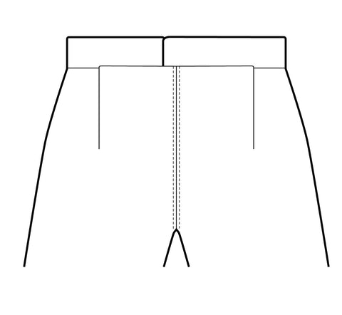 Illustration showing the topstitching the crotch