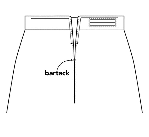 Illustration to help with the bar tack placement