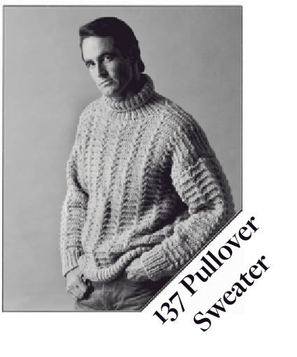137 Pullover Sweater Knitting Pattern