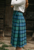 Close up photo of side closure on kilt skirt.